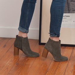 1.BOTTINES LAURA KAKI