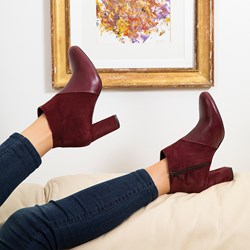 01.BOTTINES MANEL BORDEAUX AH20